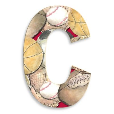 "Stupell Industries Layered Sport 18-Inch Hanging Letter ""C"""