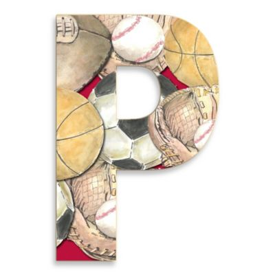 "Stupell Industries Layered Sport 18-Inch Hanging Letter ""P"""