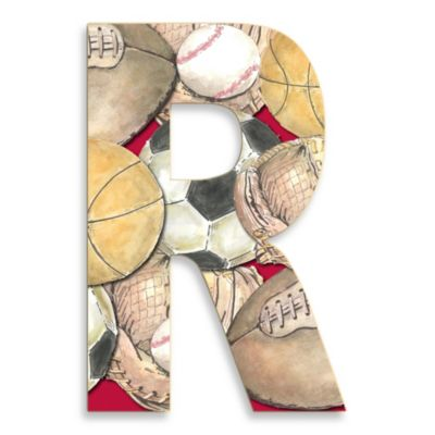 "Stupell Industries Layered Sport 18-Inch Hanging Letter ""R"""