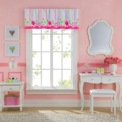 Bright Pink Window Valance