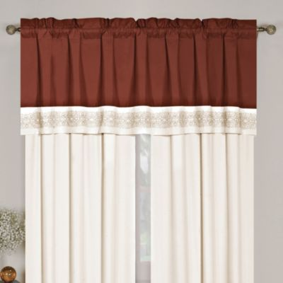 Cocoa Window Valance