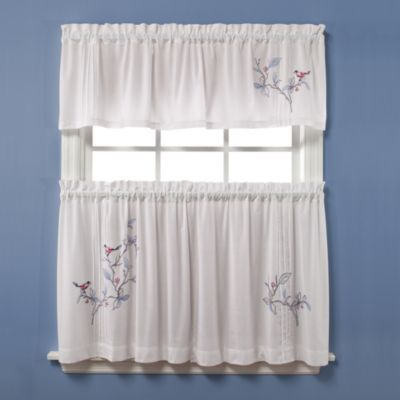 Bed Bath And Beyond Blue Curtains Cafe and Tier Curtains