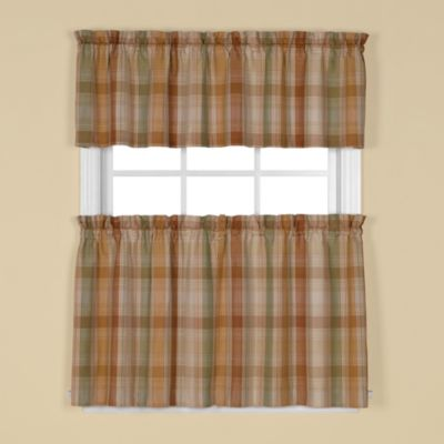 Cooper Window Curtain 24-Inch Tier Pair in Blue