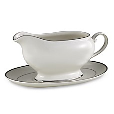 Mikasa® Cameo Platinum Gravy Boat with Stand