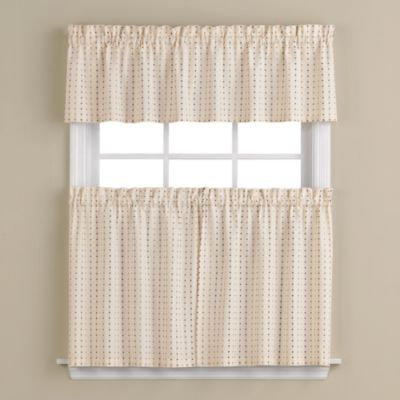 Hopscotch 58-Inch x 13-Inch Window Curtain Valance in Neutral