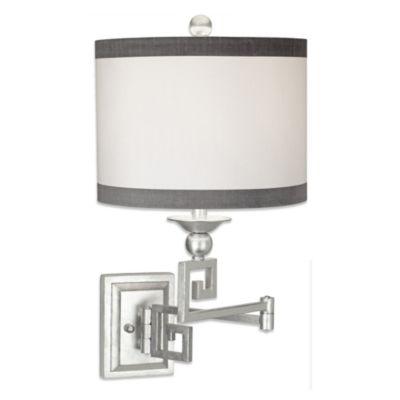 Pacific Coast® Lighting Phila Swing Arm Wall Lamp in Silver Leaf