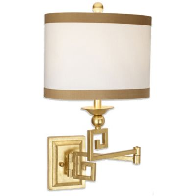 Pacific Coast® Lighting Phila Swing Arm Wall Lamp in Gold Leaf