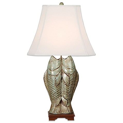 Emissary ceramic double fish table lamp in ice blue bed bath beyond emissary ceramic double fish table lamp in ice blue aloadofball Image collections