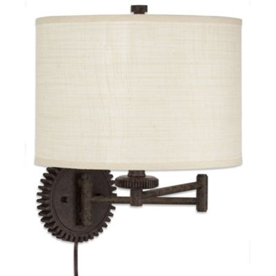 Pacific Coast® Lighting Livingston Industrial Gear Swing Arm Wall Lamp