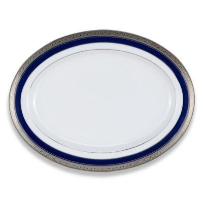 Noritake® Crestwood Cobalt Platinum 14-Inch Oval Platter
