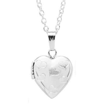 Precious Things Children's Sterling Silver Hearts Locket