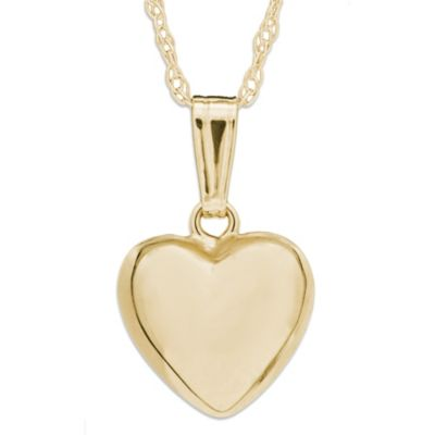 Precious Things Children's 14K Gold Puffed Heart Pendant
