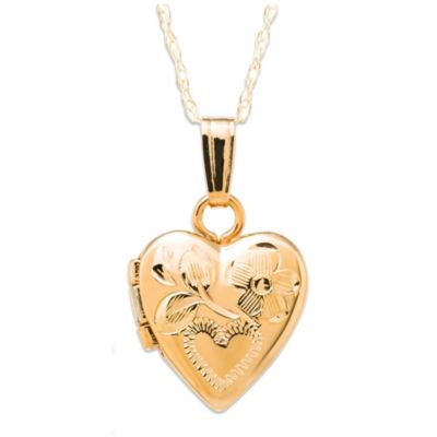 Precious Things Baby 14K Gold Engraved Heart Locket