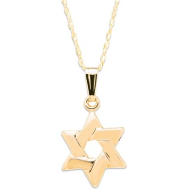 Precious Things Children's 14K Gold Star of David Pendant