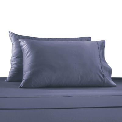 Blue Sateen Queen Sheet Set