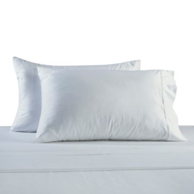 330-Thread Count 100% Cotton Sateen King Pillowcases in White (Set of 2)