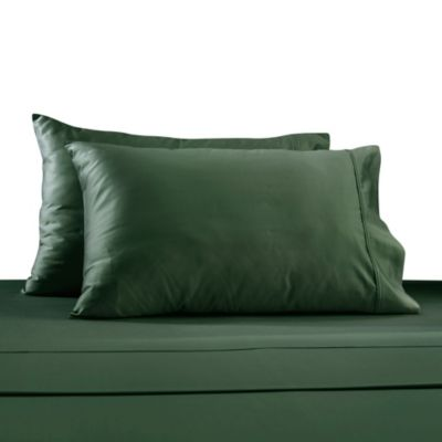 330-Thread Count 100% Cotton Sateen Queen Sheet Set in Turquoise