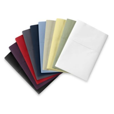 Wamsutta® Cool Touch Percale Queen Fitted Sheet in Red