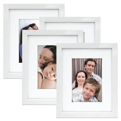 Mix and Match 4-Pack 5-Inch x 7-Inch Photo Frames in White