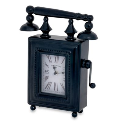 Antique Phone-Shaped Table Clock
