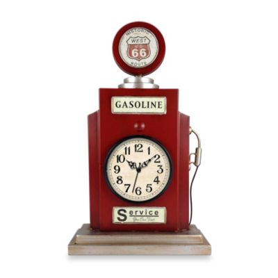 Gas Pump Table Clock