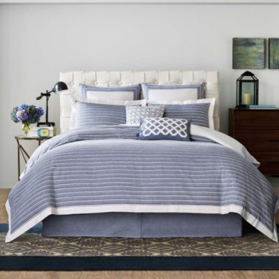 Real Simple® Soleil Full/Queen Duvet Cover in Navy