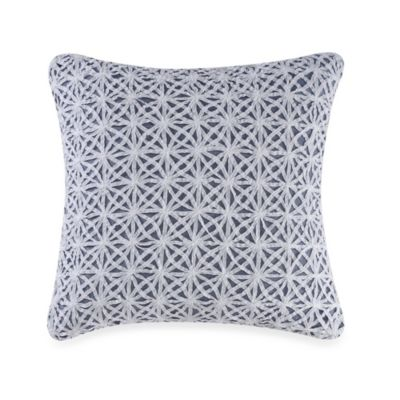 Real Simple® Soleil Square Throw Pillow in Navy