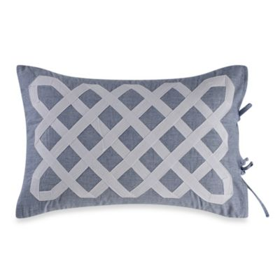Real Simple® Soleil Oblong Throw Pillow in Navy
