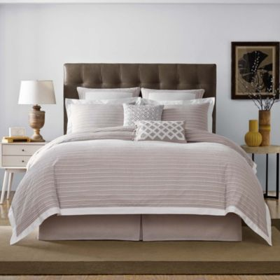 Real Simple® Soleil Full/Queen Duvet Cover in Khaki