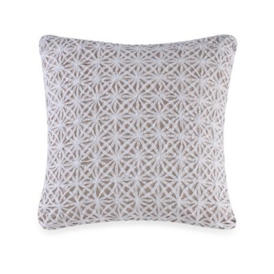 Real Simple® Soleil Square Throw Pillow in Khaki