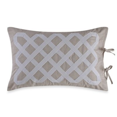 Real Simple® Soleil Oblong Throw Pillow in Khaki