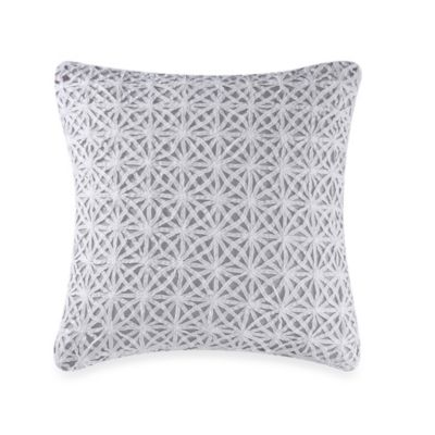 Real Simple® Soleil Square Throw Pillow in Grey