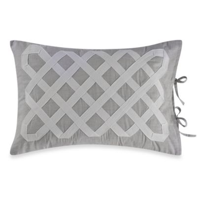 Real Simple® Soleil Oblong Throw Pillow in Grey