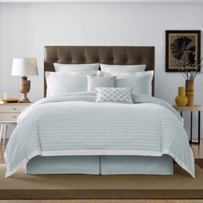 Real Simple® Soleil Twin Duvet Cover in Aqua