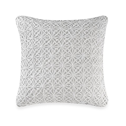 Real Simple 174 Soleil Square Throw Pillow In Aqua Bed Bath