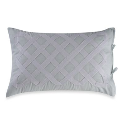 Real Simple® Soleil Oblong Throw Pillow in Aqua