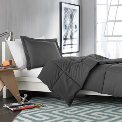 Solid Twin/Twin XL Comforter Set in Forged Iron