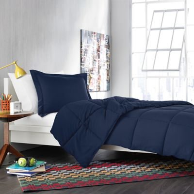Solid Twin/Twin XL Comforter Set in Navy