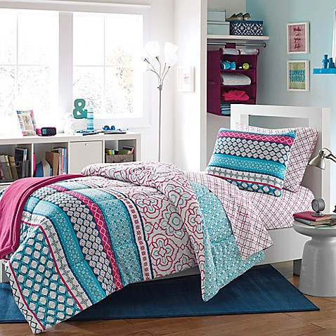 Kenzie Reversible Dorm Comforter Set Bed Bath Amp Beyond