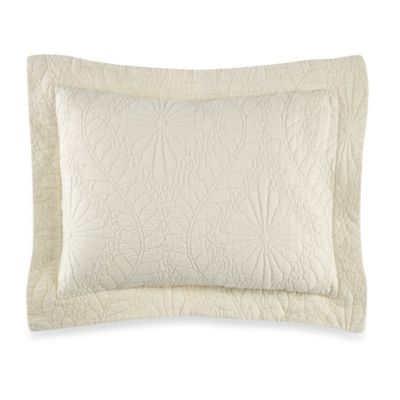 Traditions Linens Suzi Boudoir Pillow Sham in Vanilla