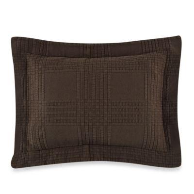 Traditions Linens Farrah Boudoir Pillow Sham in Chocolate