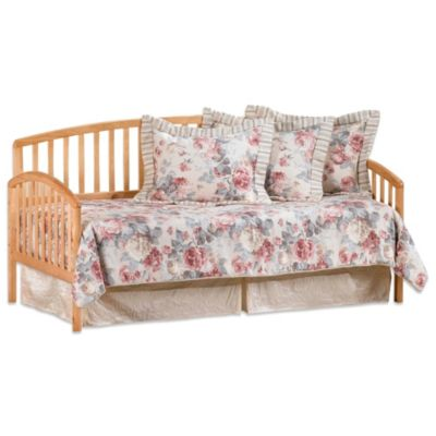 Hillsdale Carolina Daybed with Suspension Deck and Roll-Out Trundle in Cherry