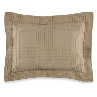 Traditions Linens Farrah Boudoir Pillow Sham in Khaki