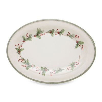 Lenox Holiday Gatherings Medium Oval Serving Platter