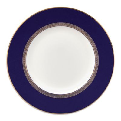 Blue Gold Salad Plate