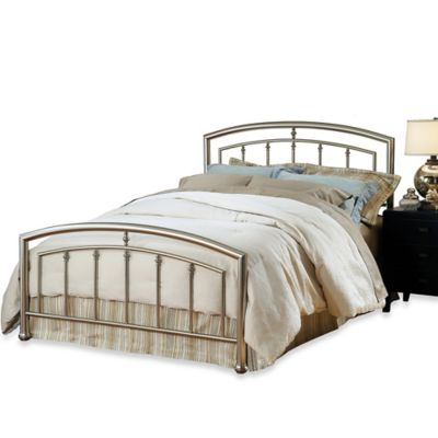 Hillsdale Claudia King Complete Bed with Rails in Matte Nickel