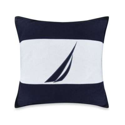 Nautica® Mainsail J-Class Square Throw Pillow in Navy