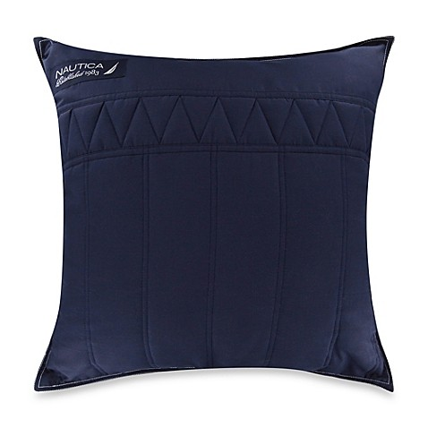 Buy Nautica Mainsail Square Throw Pillow in Navy from Bed Bath & Beyond
