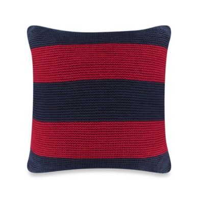 Nautica® Mainsail Knit Square Throw Pillow in Red