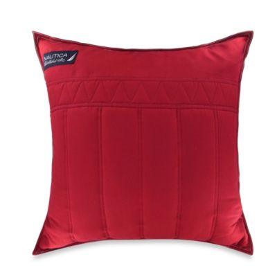 Nautica® Mainsail Square Throw Pillow in Red
